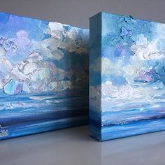 """🔴 SOLD """"Cloudy Days I and II"""" by @melissamckinnonart 👈 💙Follow me here 