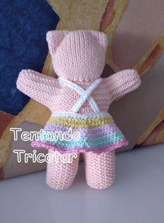 Tentando Tricotar Knitting Yarn, Baby Knitting, Knitting Patterns, Peacock Crochet, Knit Crochet, Crochet Hats, Baby Lovey, Cast Off, Hacks Diy