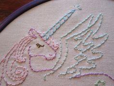 pastel unicorn embroidery