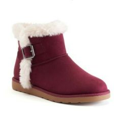 SO® Women's Fuzzy Ankle Boots  SALE $44.99