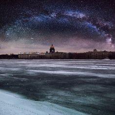 Звёздное небо в Санкт-Петербурге