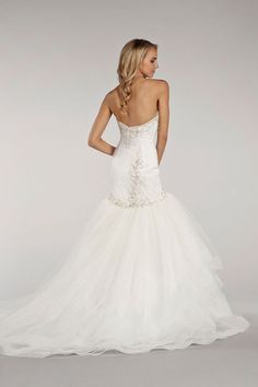 Style LL4401 - Bridal Gowns, Wedding Dresses - Lovelle Collection by Lazaro - Available Colours : Ivory (back)