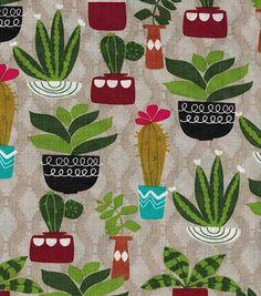 Novelty Cotton Fabric-Cactus