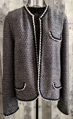 Vintage 1960s Miss Bergdorf Goodman Venice Knit Cardigan Sweater Top Jacket L #VeniceMissBergdorf #CardiganJacket