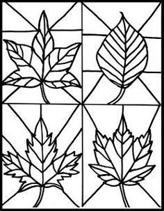 Stained glass leaves fall craft free printable for kids | fall art | fall art projects | k-8 art class