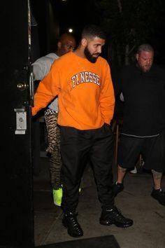3cf0bdb126e47 Drake spotted wearing an orange Finesse College RE sweatshirt Drake  Fashion