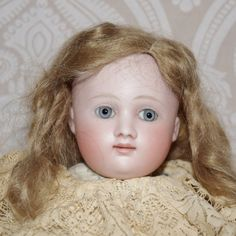 German Bisque Head Lady Doll by Kling from joan-lynetteantiquedolls on Ruby Lane