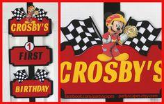 Mickey and the Roadster Racers Birthday Door Sign, Mickey Roadster Racers Birthday, Mickey Roadster Racers Door Sign