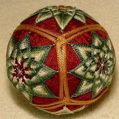 Japanese-Temari-Ball learn how at http://www.tohko.com/the-lodges-retreat-center/artisan-workshop-weekend/