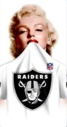 Only thing better would be her on my Harley Davidson wearing the raiders jersey! You gotta love Marilyn.