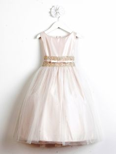 5000416872e Champagne Satin w  Lace Waistband Dress