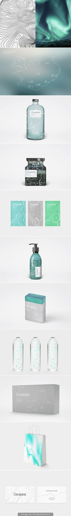 Ósvikinn a beautiful student packaging design and branding concept for a line of natural health and wellness products from Iceland curated by Packaging Diva PD