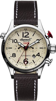 Amazon.com: Ingersoll Men's IN3218CR Lawrence Stainless Steel Watch with Black Band: Ingersoll: Watches