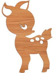 fawn deer, baby, kid-like silhouette Google search images for bigger file. canvas wall art idea for our baby girl