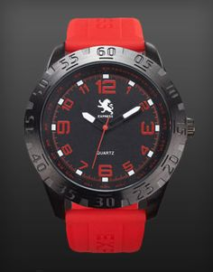 Red Silicone Strap Watch #ExpressHoliday #Express #youknowwhattimeitis