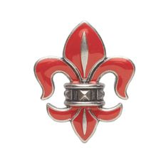 """Boleyn Medallion-Coral Clip-on Add a hand-crafted fleur de lis medallion in your favorite Grace Adele color to give your bag or key ring an urban appeal. Boleyn Collection • Silver tone • 2"""" H, 1.5"""" W • Clip-on"""