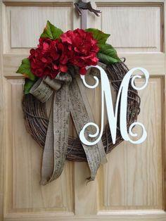 Christmas Wreath Burlap Wreath Door Wreath by Celestialwreaths