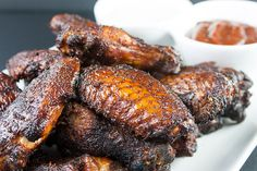 Amazing Smoked Chicken Wings - The Secrets to making amazingly delicious smoked wings with step by step instructions. These will be a smashing success at any kind of get-together. Smoked Meat Recipes, Grilled Chicken Recipes, Chicken Wing Recipes, Baked Chicken, Bbq Chicken, Pork Recipes, Keto Recipes, Grilled Food, Skillet Recipes
