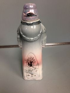 Vintage Laundry Sprinkler Hand Painted Pottery Ceramic