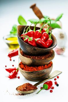 Red Hot Chili Peppers with herbs and spices over white background cooking or spicy food concept is part of Stuffed peppers - Spicy Recipes, Indian Food Recipes, Healthy Recipes, Chile Picante, Hottest Chili Pepper, Food Concept, Healthy Food Delivery, Stuffed Hot Peppers, Kraut
