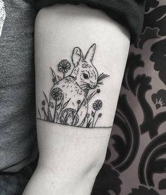 rabbit bunny tattoos kindness