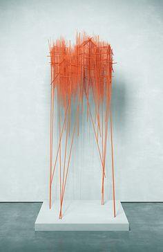 Stick Figures: Artist David Moreno Creates Intricate Architectural Sketches in 3d Sketch, Art Sketches, Sculpture Ornementale, Sculpture Ideas, David Moreno, Architectural Sculpture, Colossal Art, Spanish Artists, Cultura Pop