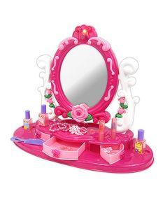 Pink Vanity Magical Mirror #zulily #zulilyfinds