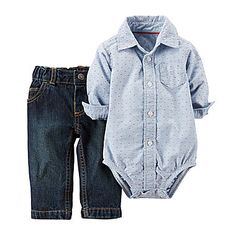 Babytom Size NB. Body Long Sleeves and hat 3 Pieces Gift Set for Boys: Footie Pants Plus Gift Wrapping