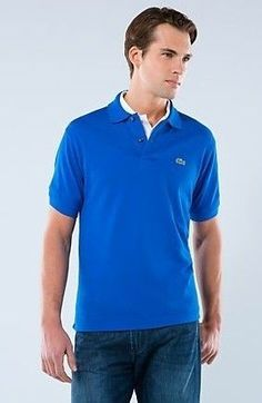 Men Polo Shirt Short Sleeve Royal Blue