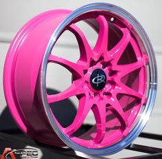 16X7 ROTA FIGHTER 10 WHEELS 5X100/114.3 PINK RIMS FITS 5 LUG CELICA COROLLA TC #RotaWheels