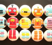 Robot cupcakes - for @Mg Wks