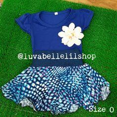 Blue Skater Skirt for Kids