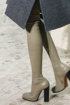 Reach new heights with these thigh-high block-heeled boots from Celine, which create the illusion of legs that go on and on. Thigh High Boots, High Heel Boots, Over The Knee Boots, Heeled Boots, Bootie Boots, Shoe Boots, High Heels, Dr Shoes, Crazy Shoes