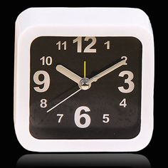 Special price Modern Small Square Alarm Clock Desk Table Desktop Time Clock Simple Style Home Office Decoration reloj despertador White Black just only $3.85 with free shipping worldwide  #clocks Plese click on picture to see our special price for you