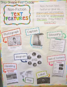 Nonfiction Text Features Anchor Chart - iHeartLiteracy