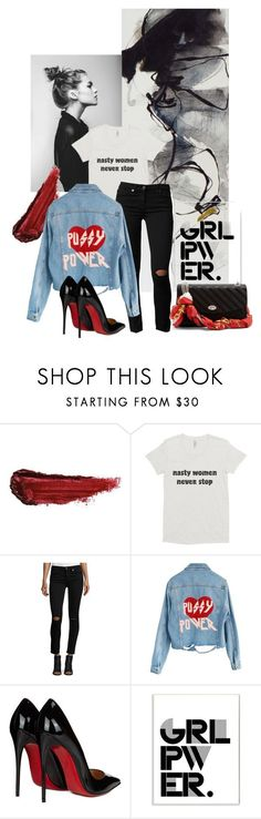 Nasty Woman never stop by pinkdream235 ❤ liked on Polyvore featuring Prada, By Terry, 7 For All Mankind, High Heels Suicide, Christian Louboutin, Stupell and Balenciaga