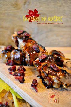 Saveurs Quebec - Brochettes de porc glaçage au sirop d'érable sur kaderickenkuizinn.com