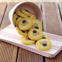 Fruit Cookie Recipe, Fruit Cookies, Frozen Cookies, No Bake Cookies, Cookie Desserts, Cake Cookies, Cookie Recipes, Chinese New Year Cookies, Paint Cookies
