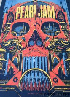 Pearl Jam - 2014 Ken Taylor poster print Vancouver, Canada rogers arena