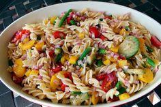 Gluten Free Pasta Salad With Mediterranean vegetables
