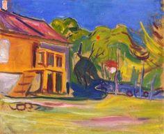 Munch's House In Asgardstrand Artwork by Edvard Munch