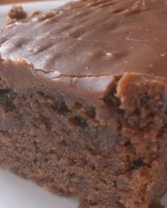 Double Fudge Coca Cola Cake ~ It's so moist and the icing is irresistable..