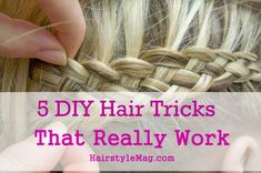 5 diy hair tricks that work Side Bun Hairstyles, Try On Hairstyles, Pretty Hairstyles, Hairstyle Hacks, Bangs Hairstyle, Braid Bangs, Everyday Hairstyles, Updo, Dyed Natural Hair