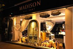 Madison Perfumery/ Night View/ Window Display by Mihaela Damian Visual Merchandising, Windows, Culture, Display, Night, Fragrance, Floor Space, Billboard, Ramen