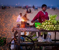 glowing orange sparks created by the wheel that pumped air into the coals were being caught by the breeze and spun out like golden flax most mesmerising scenics after thethe darker stage of twilightmostlyatMarina beach #chennai #tamilnadu #incredibleindia@beautiful.images.photos#travellers#backpackers…