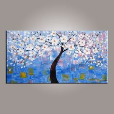 Abstract Canvas Art, Flower Tree Painting, Tree of Life Painting, Painting on Sale, Contemporary Art - Art Painting Canvas Tree Of Life Painting, Love Birds Painting, Tree Of Life Art, Hand Painting Art, Online Painting, Large Painting, Texture Painting, Painting Canvas, Paintings Online