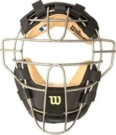 Wilson titanium A3077BLTI baseball umpire face mask NEW by Wilson. $149.99. Extended throat protection.. Titanium cage.. Velcro head adjustments.. Absorbent leather padding.. Expanded field of vision through NEW VIEW technology.  Umpire mask has a lower profile mask.. Retail value: $249.99 You are bidding on a brand new Wilson WTA3077 BLTI umpires Titanium face mask.  This facemask is brand new and has never been used!!  Wilson Titanium umpires face mask has many fea...