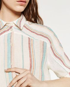 Image 6 of STRIPED LINEN TUNIC from Zara