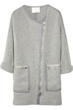 Brushed-Knit Coat.