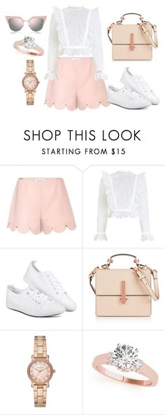 """Silk shorts - frill top"" by rajneetjanda ❤ liked on Polyvore featuring Valentino, Zimmermann, Kendall + Kylie, Michael Kors, Fendi, shorts, crop, silk, top and frill"